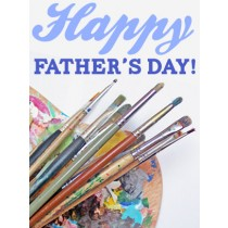 Father's Day Art eGift Card - Palette with Brushes eGift Card