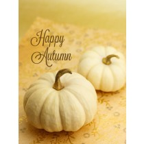 Thanksgiving Art eGift Card - White Pumpkins - electronic gift card eGift Card eGift Card