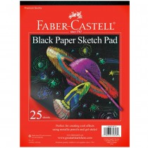 Faber-Castell Black Paper Sketch Pad 25 Sheets