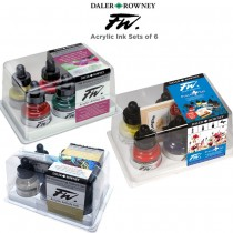 Daler-Rowney FW Acrylic Ink Sets of 6