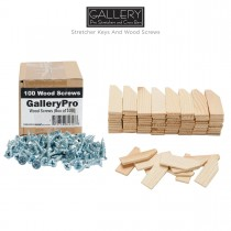 Gallery Pro Wood Stretcher Keys And Wood Screws