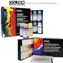 GOLDEN Fluid Acrylic Principal Professional Set of 10 & Select Professional Set of 8