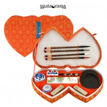 Double Heart Chinese Calligraphy Set