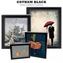 Gotham Black Deep Gallery Ready Made Frames