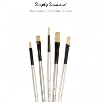 Simply Simmons Chungking Hog Bristle Oil And Acrylic Brushes