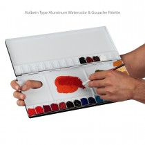 Holbein Type Aluminum Watercolor & Gouache Palette