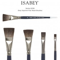 Isabey Series 6236 Squirrel Flat Watercolor Brushes
