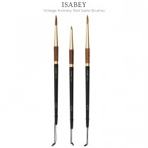 Isabey Vintage Kolinsky Red Sable Brushes