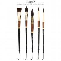Isabey Vintage Siberian Blue Squirrel Brushes