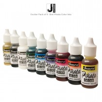 Pack of 9 15ml bottles of Pinata Color Ink