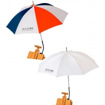 Jullian Patriot & White French Easel Umbrellas