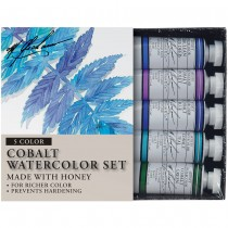 M Graham Watercolor Sets Cobalt Set of Five 15ml Tubes