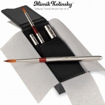 MIMIK KOLINSKY DELUXE TRAVEL BRUSH SET