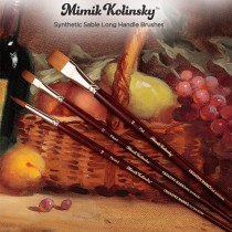 Mimik Kolinsky Synthetic Sable Long Handle Brushes & Sets