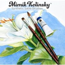 Mimik Kolinsky Synthetic Sable Shot Handle Brushes