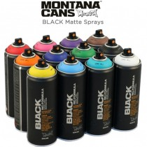 Montana BLACK Matte Spray Paint 400 ML Cans