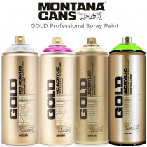 Montana GOLD Acrylic Professional Spray Paint 400 ML Cans