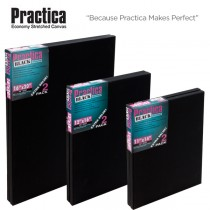 Practica Black Stretched Canvas