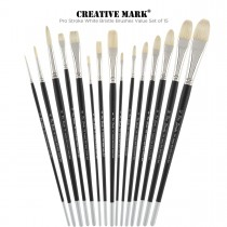 Long-Handled Bristle Brushes Value Set of 15