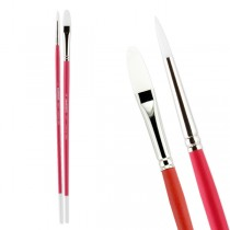 Try-It! Pro-White Professional Acrylic Brushes Pack of 2