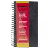 "Reflexions 5x11"" Double Wire Sketch Book Spiral Bound 80 Sheets 70lb"
