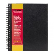 "Reflexions 8.5x11"" Double Wire Sketch Book Spiral Bound 80 Sheets 70lb"