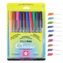 Sakura Gelly Roll Pen Assorted Colors Set of 10