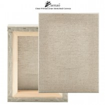 """Clear Linen Primed Stretched Canvas 3/4"""" Deep"""
