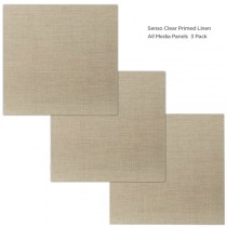 Senso Linen Multi-Media Clear Primed Panels 3 Pack 3x3