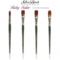 Silver Brush Ruby Satin Synthetic Brushes
