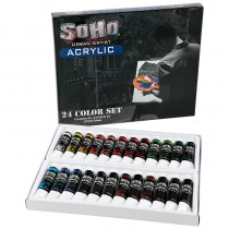 SoHo Urban Artist Acrylics Acrylic Tubes Value Set of 24	12 ml