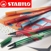 Color-intensive premium fibre-tip pen for strong lines and large areas