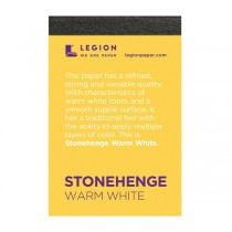 Stonehenge Mini 250 gsm Paper Pad 2.5x3.75 Warm White 15 Sheets