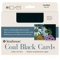 Strathmore Coal Black Cards & Envelopes