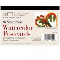 Watercolor Postcards 15 Pack