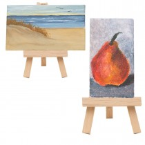 Ultra Mini Stretched Canvas & Mini Easels by Creative Mark