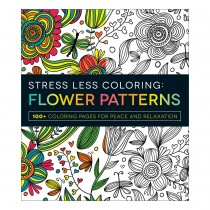 Stress Less Coloring Book: Flower Patterns