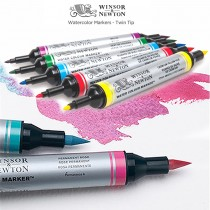 Winsor & Newton Water Colour Markers & Marker Sets  -Twin Tip Makers