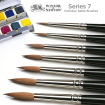 Winsor & Newton Series 7 Kolinsky Sable Watercolor Brushes - Round Short Handle