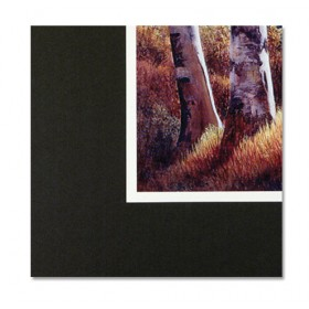 Crescent No 8 Black Mounting Board