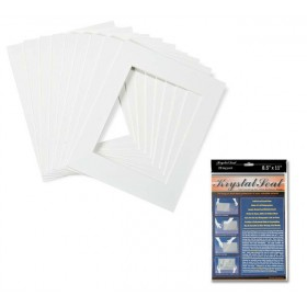 Crescent Select Pre Cut White Glove Mats With Krystal Seal Bags