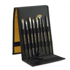 Silver Brush Monza Synthetic Mongoose Brush Set