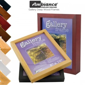 "Ambiance Gallery 1.5"" Deep Wood Frames"
