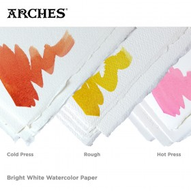 Arches 100% Rag Watercolor Paper Bright White