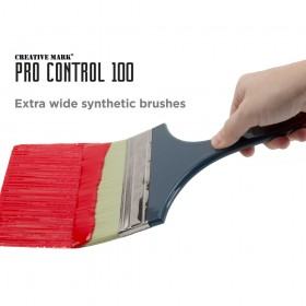Pro Control 100 Extra Wide Large Synthetic Brushes by Creative Mark