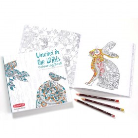 Derwent Unwind in the Wilds Coloring Book Set