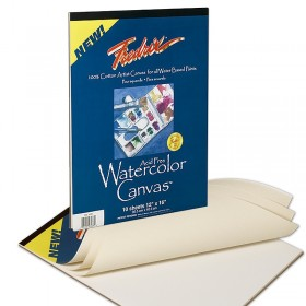 Fredrix Archival Watercolor 100% Cotton Canvas Pads