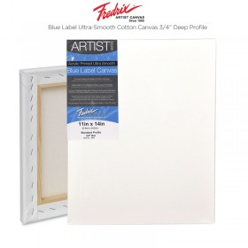 "Fredrix Blue Label Cotton Canvas - Ultra-Smooth 3/4"" Deep"