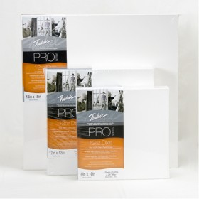 "Fredrix PRO Series 12oz Dixie Stretched Canvas - Standard 7/8"" Deep Boxes of 5"
