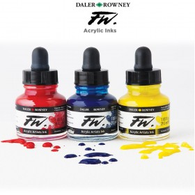 Daler-Rowney FW Acrylic Water-Resistant Artists Inks